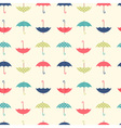 Autumn seamless pattern with a flat umbrellas vector image vector image