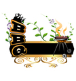 BBQ background vector image vector image