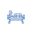 bed in hospital line icon concept bed in hospital vector image vector image