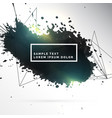 black ink patch abstract background vector image vector image