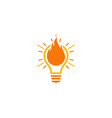 burn idea logo icon design vector image vector image