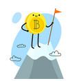 cartoon bitcoin character vector image vector image