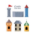 castle with tower design vector image