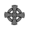 celtic cross 2 vector image