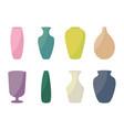 ceramic vases collection colored ceramics vase vector image vector image