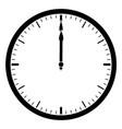 clock 1200 vintage vector image vector image