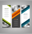 collection abstract banners with color helical vector image vector image