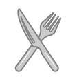 crossed fork and knife isolated icon vector image