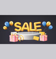 discounts poster banner for retail shopping vector image vector image