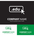 domain edu icon top-level internet vector image vector image