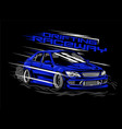drifting raceway with style vector image vector image