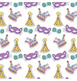 fashion party costume decoration background vector image