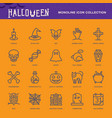 halloween icon white vector image