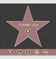 hollywood walk fame star vector image vector image