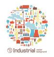industrial conceptual background vector image vector image