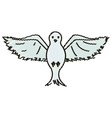 Isolated dove design vector image vector image