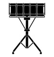 isolated drum icon musical instrument vector image
