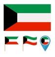 Kuwaitcountry flag vector image vector image