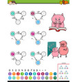 maths addition educational game for children vector image vector image