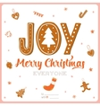 Merry Christmas and Happy New 2016 Year vector image vector image