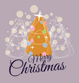 merry christmas greeting card trend design spruce vector image