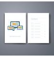Modern resposive web design flat icon cards design vector image vector image