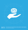 money in hand icon vector image vector image