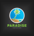 paradise design template poster vector image