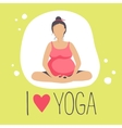 Pregnant woman doing YogaBatterfly or lotus Pose vector image vector image