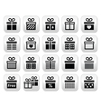 Present gift box buttons set vector image
