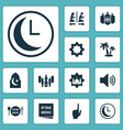 religion icons set collection of tree bullhorn vector image vector image