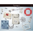 Scrapbookng poster with sea traveling elements vector image vector image