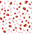 seamless pattern with hearts love background vector image vector image