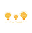 set hand drawn light glowing bulbs isolated on vector image