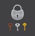 set of vintage keys and locks vector image vector image