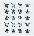 shopping carts icons set vector image vector image