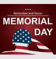 soldier saluting the usa flag for memorial day vector image vector image