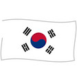 south korean flag graphic vector image vector image
