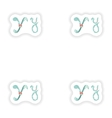 stiker Abstract letter Y logo icon in Blue vector image vector image
