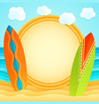 summer beach sand ocean surf holiday tourism vector image
