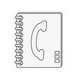 telephone address book vector image vector image