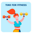 time for fitness sport center social media banner vector image vector image