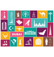 Traditional symbols uae flat icons