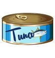 Tuna in aluminum can vector image vector image