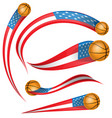 usa flag element with soccer ball vector image vector image