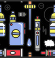 vape devices and accessories with flavored steam vector image vector image