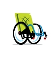 wheelchair handicap cartoon vector image vector image
