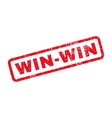 Win-Win Rubber Stamp vector image vector image
