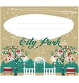 Winter Park background Landscape for your design vector image vector image