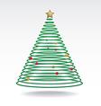 Christmas tree neon light vector image
